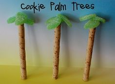 Cookie Palm Trees! You could fill a jar with brown sugar and stick them in that