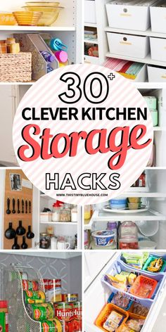 30 Sanity saving genius kitchen organization hacks that are guaranteed to keep a tidy kitchen. They're so clever you'll regret not having tried them sooner! Organizing Hacks, Home Organization Hacks, Closet Organization, Cleaning Hacks, Organising, Storage Closets, Clever Kitchen Storage, Tidy Kitchen, Small Kitchen Organization