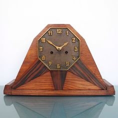 Junghans Hac Pfeilkreuz Art Deco Antique Symmetrical! Germany Shelf/mantle Clock