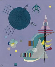 'Violett-Grün' (Violet-Green) by Wassily Kandinsky, 1926