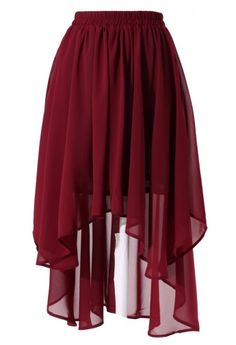 wine red asymmetric waterfall skirt  http://rstyle.me/n/esevipdpe
