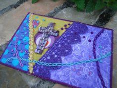 Easter Cross Fabric Postcard Mini Quilt Art ♥ by kimstexascreations, $13.00
