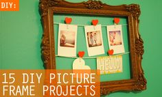 15 DIY Picture Frame Projects