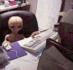 on the internet no one knows you're an alien