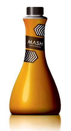 Fonction: Technique: Cette bouteille de Jus d'Orange très design est faite d'aluminium et possède une forme peu commune pour un bouteille. L'ouverture avec un bouchon offre une facilité dans le versement du jus. Communication: la marque s'adresse à une clientèle qui cherche à se démarquer. On suppose que ce jus d'orange est commercialisé en magasin spécialisé ou il atteint plus facilement le coeur de cible de la marque.