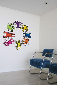Keith Haring Dancers http://www.whatisblik.com/shop/keith-haring-dancers-color Wall stickers