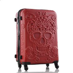 Letrend New Fashion Britain Skull Print Rolling Luggage Women Trolley 19 inch Boarding Box Suitcases Travel Bag Trunk Luggage Store, Travel Luggage, Luggage Bags, Travel Bags, Skull 3d, Luggage Sizes, Hardside Luggage, Rubber Material, Best Deals Online