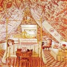 Perfect attic guest room.