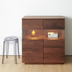 Sideboard with the LED light