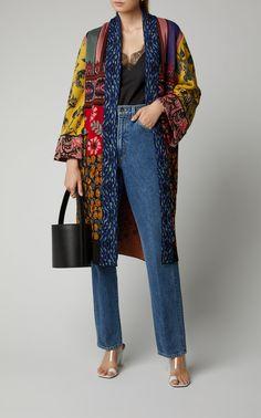 Maglia Floral-Print Crepe Robe by Etro Batik Fashion, Hijab Fashion, Diy Fashion, Ideias Fashion, Winter Fashion, Fashion Dresses, Womens Fashion, Fashion Design, Fashion Boots