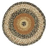 """Place our Kettle Grove Round Braided Tablemat 13"""" on your dining table with your favorite centerpiece, under plants, lamps, or your favorite primitive decor. https://www.primitivestarquiltshop.com/products/kettle-grove-round-braided-tablemat-13 #primitivekitchensanddiningrooms"""