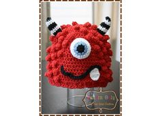 Monster Hat Crochet Pattern  BRONSTER & by EmieGraceCreations, $5.50. Make for the cousins.