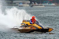 """Andy Mitchell, F-726 """"Flying Tiger"""", 1978 Gibbs 5 Litre class cabover hydroplane"""