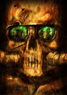 Armored Skull. by PAOLOREDFIVE.deviantart.com on @deviantART