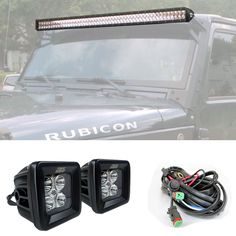 20 inch 126w cree flood spot dual row led light bar off road work our tuff stuff led combo kit includes a led light bar x pair of led pods and all vehicle specific mounting brackets to light up the night mozeypictures Gallery