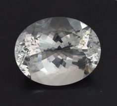 65.79 Ct Natural Crystal Quartz Oval cut white colorless loose gemstone 24 -30mm #ROUNDSNROSES