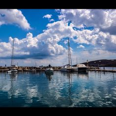 #Kythnos #Loutra #port #sky #reflection