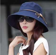 20b9fba7d97 Fashion bow fisherman hat for women cotton bucket hats