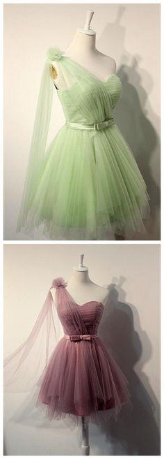 Charming Homecoming Dress,One Shoul