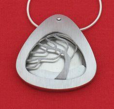 Aluminum Necklace Silver Grey (RH197SG)
