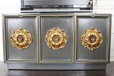 white and gold credenza - Google Search
