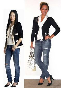 Black n white casual chic