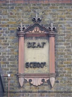Deaf and Dumb school, Manbey Street / Water Lane, Stratford A nice (and modified! Deaf School, Next Film, Deaf Culture, Sign Language, East London, Dumb And Dumber, Schools, Clock, History