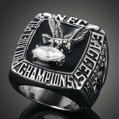 2016 New European and American NFL Champion Replica Ring 1980 Philadelphia Eagles Super Bowl Championship Ring Fans Loves J02029