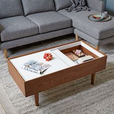 🔹NEW!🔹Our Double Storage Coffee Table is great for hiding your deep dark secrets… or at least your remotes. #westelm #storage #style   Posted by west elm