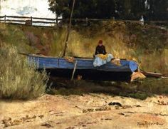 Boat on Beach, Queenscliff - Tom Roberts