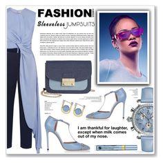 """sleeveless jumpsuits"" by nanawidia ❤ liked on Polyvore featuring Roksanda, INC International Concepts, Allurez, Gucci, URiBE, Estée Lauder, polyvoreeditorial, polyvorecontest, PVShareYourStyle and sleevelessjumpsuits"
