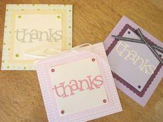 44.ダイカットマシーンで簡単Thank youカード | 簡単手作りカード                                             Chocolate Card Factory