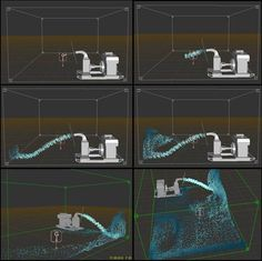 RealFlow Water Simulation - RealFlow Tutorials, collected to pinterest.com from http://vfxconsultancy.com/tutorials/animation-tutorials/realflow/dynamics/tutor/6.html