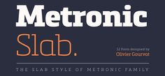 Metronic Slab Pro font - a slab-serif font family of 6 weights