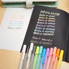 Pens : Sakura Gelly Roll Souffle Opaque Ink (Set of School Supplies, Art Supplies, Book Wallpaper, Pen Art, Calligraphy Fonts, Creative Inspiration, Pens, Hand Lettering, Coloring Stuff