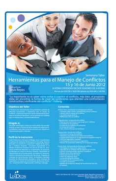 Herramientas para el Manejo de Conflictos  Impartimos este taller Inhouse  Llamanos!!  809-422-7967  entrenamientos@leadconsultingrd.com