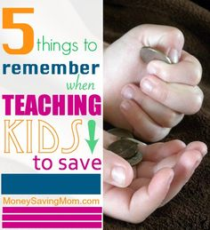 Practical encouragement and inspiration to help teach your kids to save...