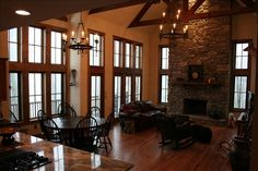 Waynesville Vacation Rental - VRBO 237744 - 5 BR Smoky Mountains House in NC, Rustic Luxury at 4700' - Views, Hot Tub, Fireplace & Suites