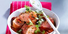 Osso buco de porc Tandoori Chicken, Chicken Wings, Curry, Food And Drink, Ethnic Recipes, Coconut Chicken, Meal Ideas, Thermomix, Curries