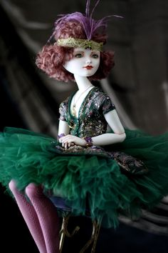 Art porcelain dolls by Oksana Saharova. Collection Ziegfeld Girls. Porcelain, 55cm, 2013