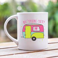 RV There Yet, Camping Mug, Camping Gift, Adventure Awaits, Rv Camping, Rv Gift, Wanderlust, 11 oz Mug, Travel Mug, Summer Travel #camping #rving #ad #rv #mug #cup #coffeecup #wanderlust