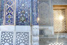 Detail of tilework, Samarkand - The Registan