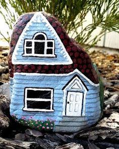 Original Art by Dianne Hoffman: Painted Pebble Village is Growing!