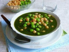 Crema di spinaci con ceci e piselli -  Creamed spinach with chickpeas and peas   Ortaggi che passione by Sara