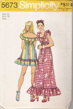 In high school we made fashions like these in Home economics!