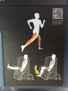 Instructie leg curl, Precor, QR-code