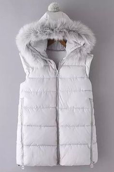 Faux Fur Embellished Quilted Waistcoat