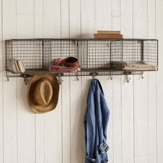 "STOREWELL WALL STORAGE SHELF -- Recently revamped, this wall-hung storage unit is sturdier than ever before. Mix and match to suit your needs and let the vintage visage bring new world order to your home. Imported. Catalog exclusive. Assembly required. 48""W x 12""D x 10""H."