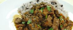 Caribbean recipes curry goat with rice and peas epic-foodie Jamaican Cuisine, Jamaican Curry, Jamaican Recipes, Jamaican Dishes, Pea Recipes, Indian Food Recipes, Savoury Recipes, Yummy Recipes, Caribbean Recipes