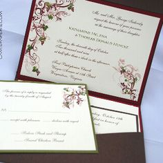 Awesome Wine / Vineyard Themed Wedding Invitation Etsy.com/shop/camispaperie